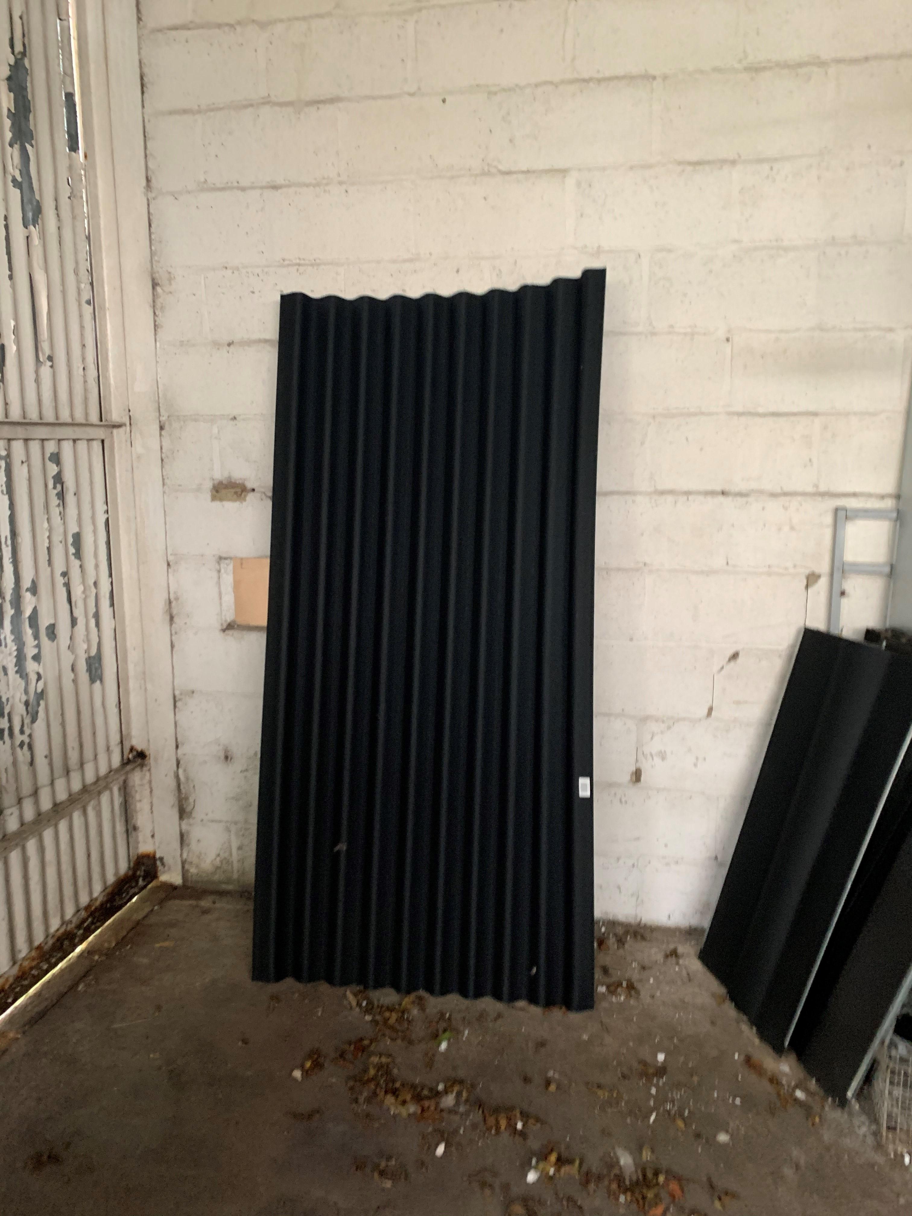Coroline Black Roofing Sheet 2m X 950mm Rhino Building Supplies